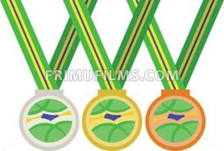Colored medals. Digital vector image - frimufilms.com