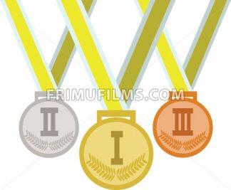 Colored medals. Digital vector image - frimufilms.com