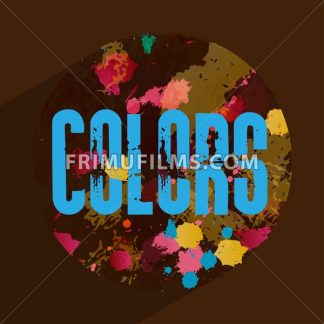 Digital vector abstract blue colors over brown background, flat style - frimufilms.com