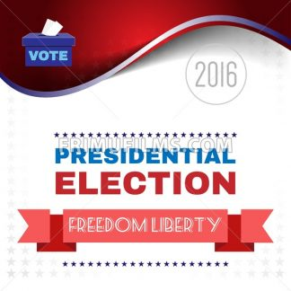 Digital vector usa election with presidential vote box and freedom and liberty, flat style - frimufilms.com