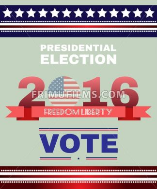 Digital vector usa election with presidential vote, freedom, liberty, flat style - frimufilms.com