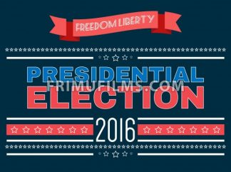 Digital vector usa presidential election 2016 with freedom and liberty, flat style - frimufilms
