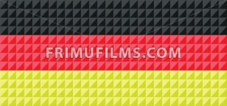 German national flag colors composed from triangles. - frimufilms.com