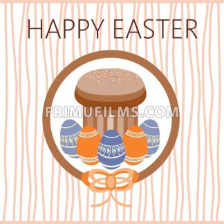 Happy Easter Card. Easter eggs. Plain Colored Easter Eggs. Digital background vector illustration. - frimufilms.com