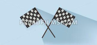 Rally flags over white blue background, flat style. Digital image vector - frimufilms.com