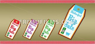 Vector Oktoberfest beer festival with big sale labels and shopping basket, flat style. - frimufilms.com