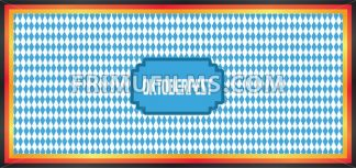 Vector Oktoberfest beer festival with german national colors and blue and white background. - frimufilms.com