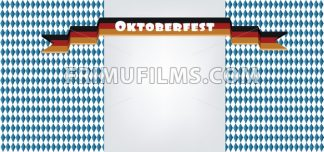 Vector Oktoberfest beer festival with ribbon in german national colors with silver space for text. - frimufilms.com