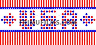 Vector Patriot Day, with USA letters, blue and red stripes and stars over white background. - frimufilms.com