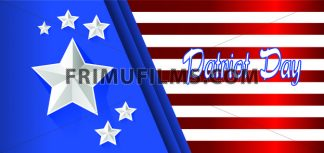 Vector Patriot Day, with blue and red stripes and big silver stars. - frimufilms.com