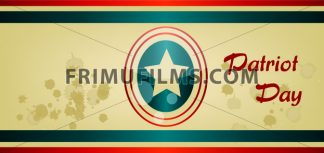 Vector Patriot Day, with blue and red stripes and big star over khaki background. - frimufilms.com