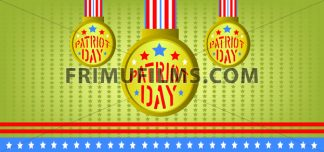Vector Patriot Day, with blue and red stripes and gold medals over khaki background. - frimufilms.com