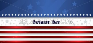 Vector Patriot Day, with blue and red stripes and stars. - frimufilms.com