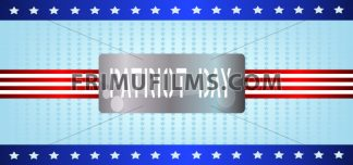 Vector Patriot Day, with blue and red stripes and stars over blue background. - frimufilms.com