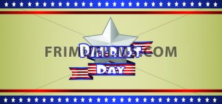 Vector Patriot Day, with blue and red stripes and stars over khaki background. - frimufilms.com