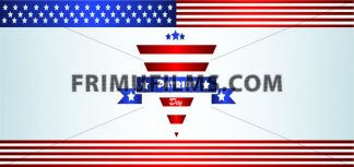 Vector Patriot Day, with blue and red stripes and stars over silver background. - frimufilms.com
