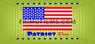 Vector Patriot Day, with usa flag and stars over khaki background. - frimufilms.com