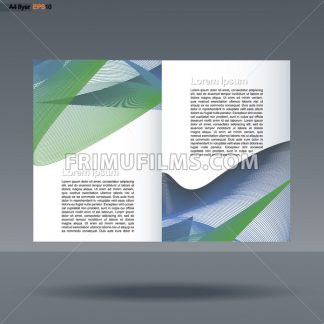 Abstract print A4 design with colored lines for flyers, banners or posters over silver background. Digital vector image. - frimufilms.com