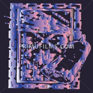Abstract spray painting a picture in square frame. Digital vector image - frimufilms.com