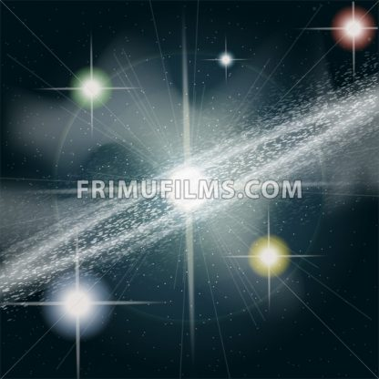 Big shining and glowing stars in space close up. Digital vector image - frimufilms.com