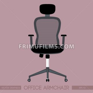 Black modern office armchair over pink background. Digital vector image - frimufilms.com