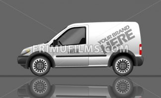 Digital vector silver and white realistic vehicle car mockup, ready for your logo and design, flat style - frimufilms.com