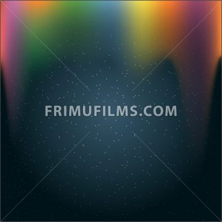 Infinite outer space with glowing stars and colored light. Digital vector image - frimufilms.com