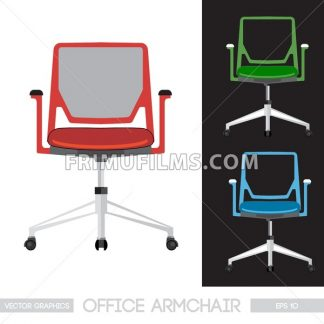 Office armchair set. Digital vector image - frimufilms.com