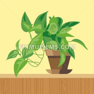 Office plant, flat style. Digital vector image - frimufilms.com