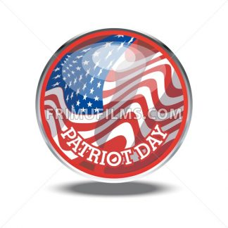 Patriot day card with the flag of unites states of america in a silver circle. Digital vector image - frimufilms.com