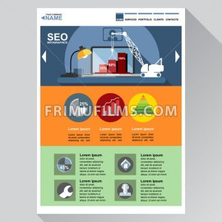 Seo agency web site theme layout. Digital background vector illustration. - frimufilms.com