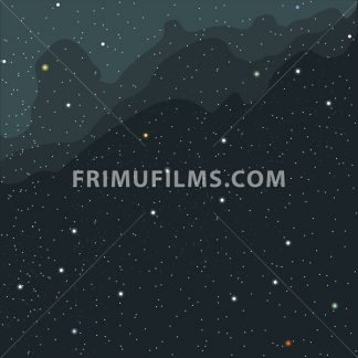 Space and cosmic view of the universe with stars, planets and galaxies. Digital vector image. - frimufilms.com