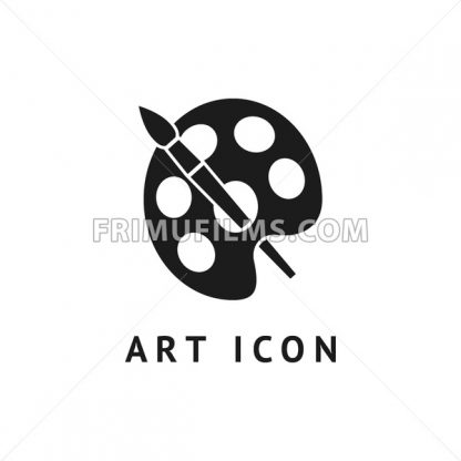 Digital vector black school icon with drawn simple line art, brush and paint outline, flat style - frimufilms.com