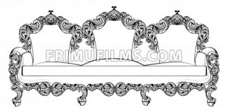 Baroque furniture set with luxurious ornaments. Vector French Luxury rich intricate structure. Victorian Royal Style decors - frimufilms.com