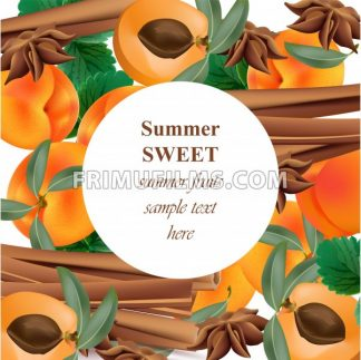 Summer appricot and cinnamon background pattern Vector illustration - frimufilms.com