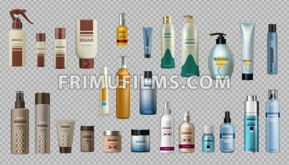 Digital Vector Realistic Bottles Set Collection Mockup - frimufilms.com