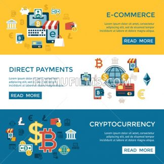 Digital vector bitcoin cryptocurrency and electronic money payments transfer icons set. Litecoin, ethereum, mining pools, blockchain and virtual trading. Financial infographic - frimufilms.com