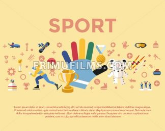 Digital vector winter games objects color simple flat icon set collection, sport infographics, isolated - frimufilms.com