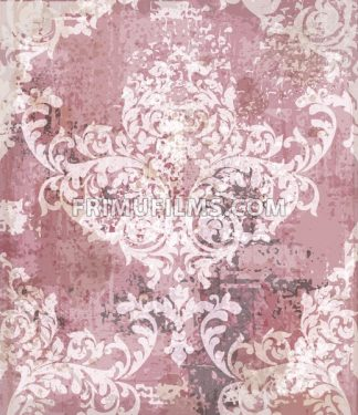 Baroque pattern vintage background Vector. Ornamented texture luxury design. Intricate Royal textile decor. Trendy colors - frimufilms.com