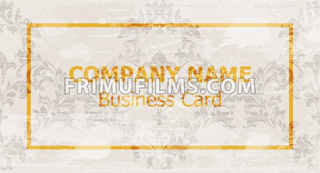 Business card layout design Vector. Ornamented background - frimufilms.com