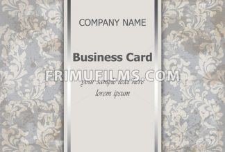 Business card with luxury ornament Vector. Baroque intricate design illustration. Place for text - frimufilms.com