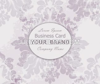 Business card with vintage baroque element. Vector illustration - frimufilms.com