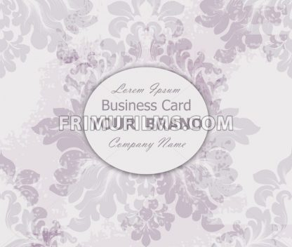 Business card with vintage baroque element. Vector illustration - frimufilms.com