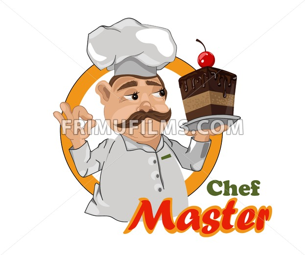 Cook chief Vector detailed design. Master chief cartoon character illustration - frimufilms.com