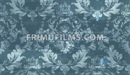Damask old pattern ornament decor Vector. Baroque fabric texture illustration design - frimufilms.com