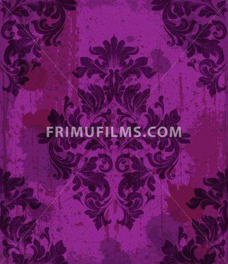 Damask pattern ornament decor Vector. Baroque fabric texture illustration design - frimufilms.com