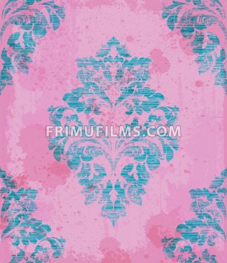Damask pattern ornament decor Vector. Baroque fabric texture illustration design - frimufilms.com