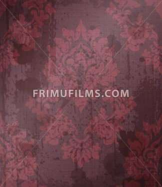 Damask pattern ornament decor Vector. Baroque fabric texture illustration designs. Bordeaux color - frimufilms.com