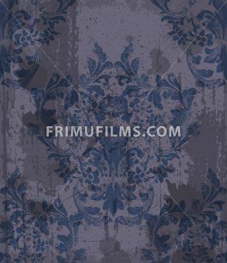 Damask pattern ornament decor Vector. Baroque grunge fabric texture illustration design - frimufilms.com