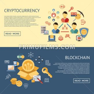Digital vector line icons set blockchain pack illustration with elements for cryptocurrency infographics - frimufilms.com